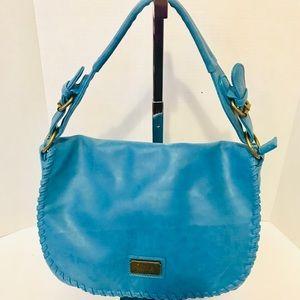 Hayden Harnett Teal Blue vegan leather bag